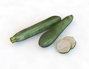 Zucchini Courgette 3D model