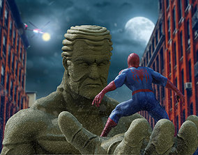 3D print model Spiderman vs Sandman