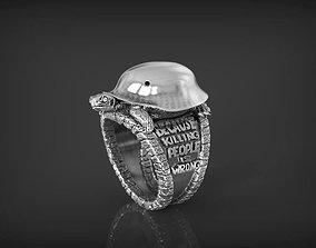 Ring peace turtle 3D print model
