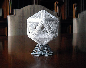 Icosahedron Sculpture 3D printable model