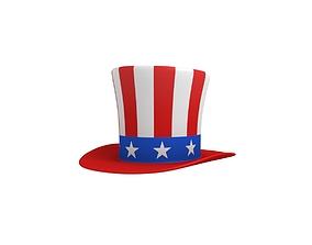 Uncle Sam Hat 3D model