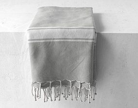 Towel Set 14 3D model bended