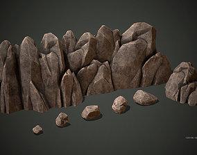 Stylized rock formations 3D model VR / AR ready