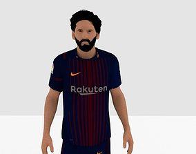 Lionel Messi 3D asset VR / AR ready