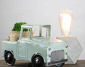 Teal Catanzaro Vintage Country Farmhouse Style 3D model 1