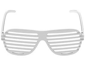Shutter Glasses White 3D model