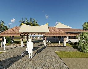 3D model Beach Restaurant