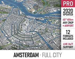 Amsterdam - city and surroundings 3D model