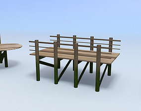 boardwalk 3D asset