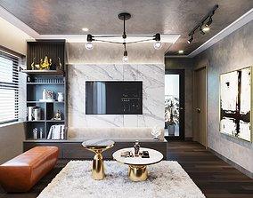 Apartment interior suburban 3D model