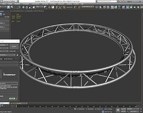 3D print model Circle Triangular Truss Full diameter 300cm