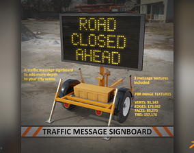 Traffic Message Signboard 3D model