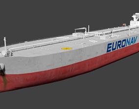TI Europe Oil Tanker Ship Lowpoly 3D model