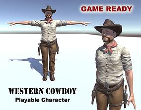 Western Cowboy 3D model
