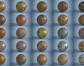 3D model Pack of 25 Seamless Rusty Metal Surfaces PBR 1