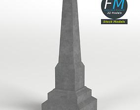Obelisk gravestone 3D model