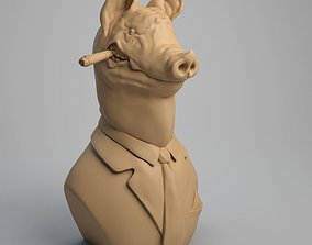 3D printable model Pig Bust The chief