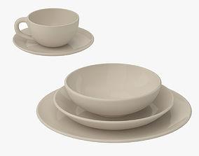 Simple Beauty Tableware 3D model