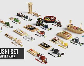 3D asset Sushi Set Pack