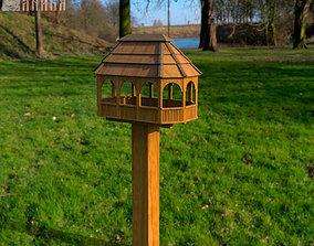 Bird feeder 3D model game-ready