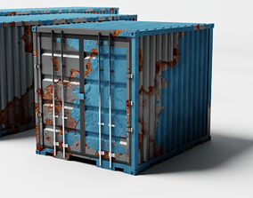 3D model Rusty container