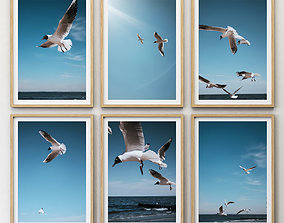 3D JUNIQE Seagulls Poster