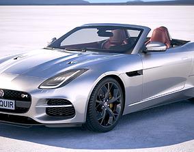 3D model Jaguar F-Type R Convertible 2018