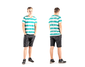 Man casual style 04 3D model