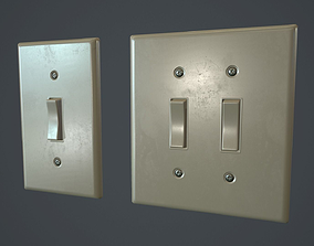 Standard Light Switch PBR Game Ready 3D model