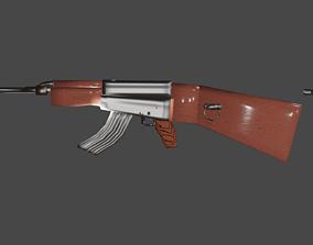 AK47KalasnyikovLowPolyModell 3D asset