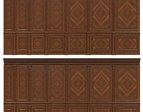 3D asset Wood panels with veneer 02