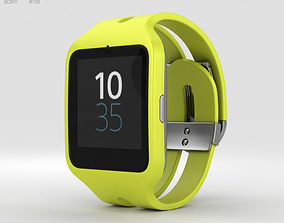 Sony SmartWatch 3 SWR50 Yellow 3D