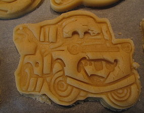 Mater from CARS 3 cookie cutter with 3D printable model 1