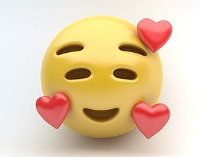 EMOJI Smiling heart 3D model