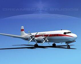 3D Douglas DC-7C Spantax
