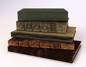 3D asset Old Books LOW POLY