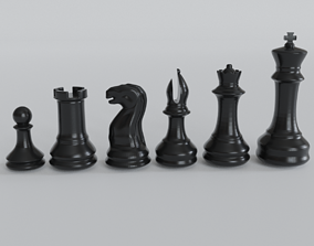 chess pawn knght rook queen king Bishop 3d print 1