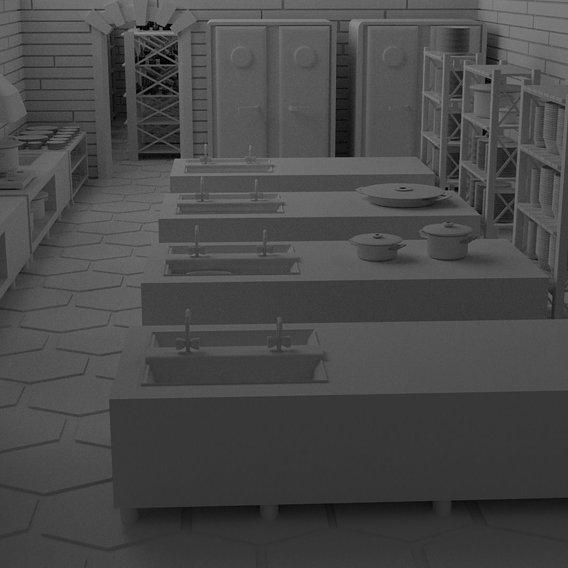 Restaurant Bar Kitchen Stage Storage SET p2