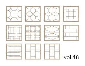 Kumiko Collection vol-18 3D model