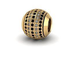 3D print model 5 rows of stones charm ball