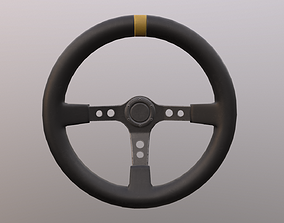 Sport steering wheel 3D asset