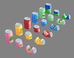 3D asset Carbonated drinks - Cans - Coca-Cola - soda - 1
