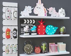 set of souvenirs and decor 3D