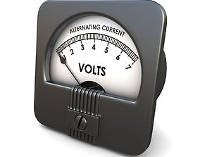 3D model Analog AC Voltmeter