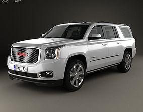 3D GMC Yukon XL Denali 2014