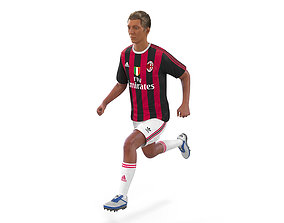 3D model Soccer Player Milan Rigged 2
