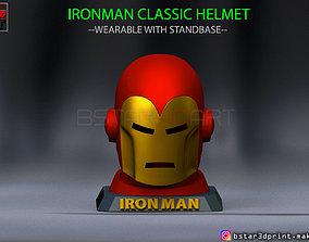 IronMan Classic Helmet - wearable 3D printable model 4