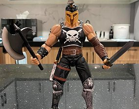 3D Marvel Legends Ares Olympian Sword and Axe Weapons 1-12