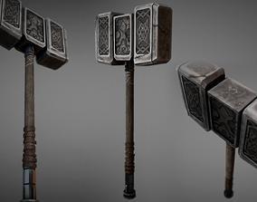 Stone Warhammer 01 3D model