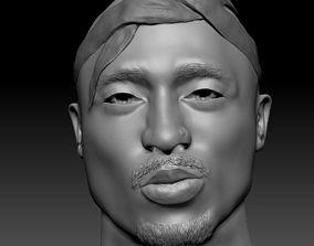 figure 2Pac Tupac Shakur Bust 3D Print rigged